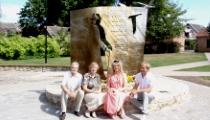 Viļa Plūdoņa piemineklis Bauskā